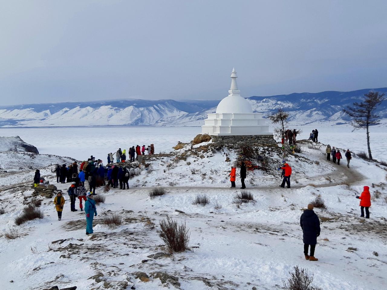 Ступа Просветления на острове Огой (Байкал)